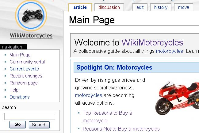 WikiMotorcycles - Screenshot