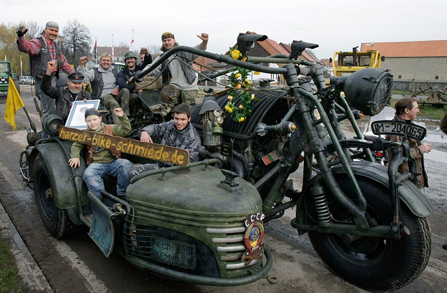 Das schwerste Motorrad der Welt - Ein Mehrsitzer!