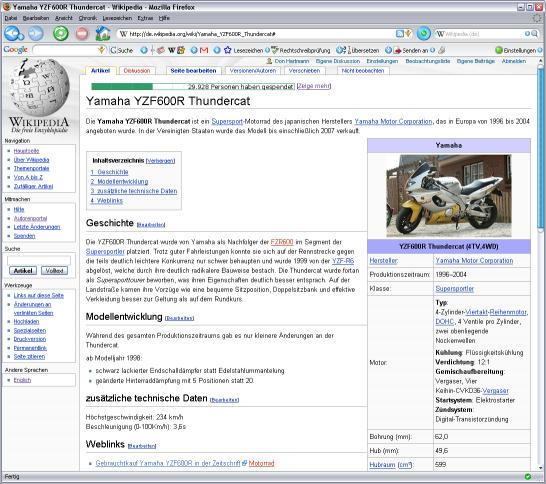 Thundercat-Eintrag in der Wikipedia