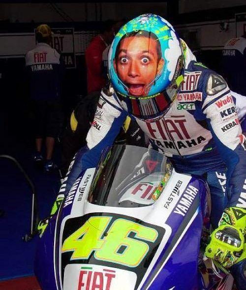 Neues Helmdesign bei Valentino Rossi