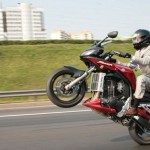 Motorrad-Hochzeit in Moskau