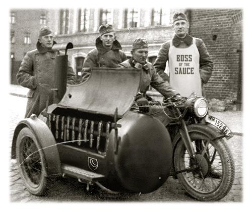 Mobile Wursteinheit im WWII
