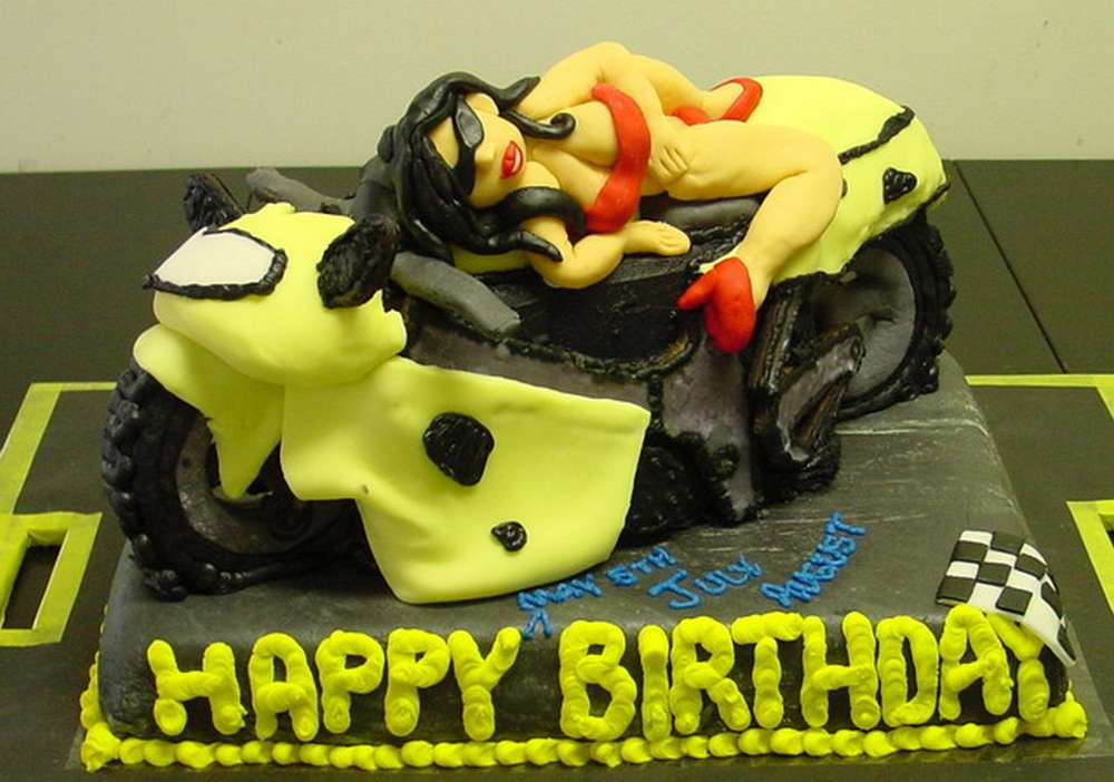 Motorcycle Crash Cake